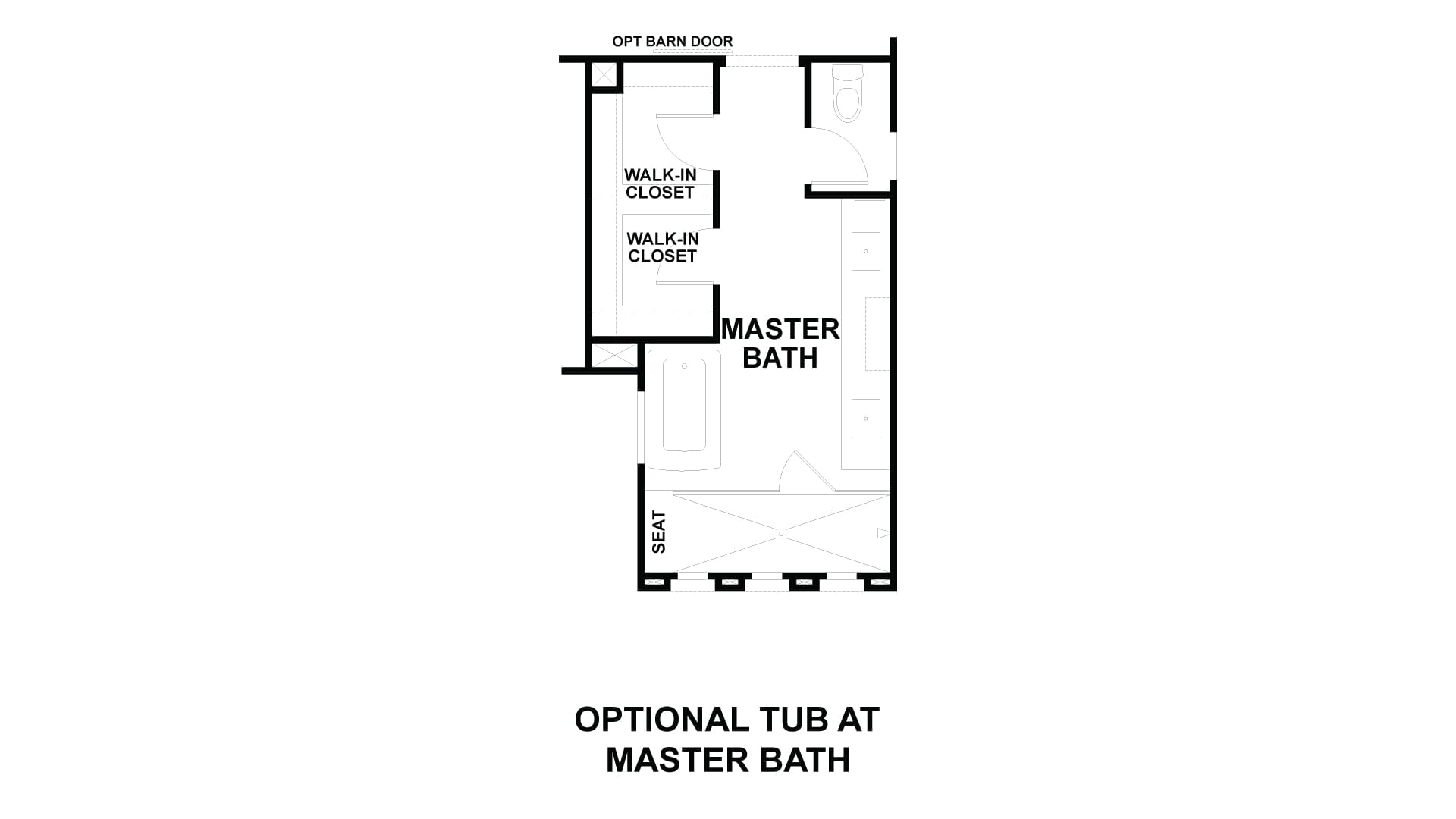 Optional Tub at Master Bath. Residence 1 New Home in Costa Mesa, CA