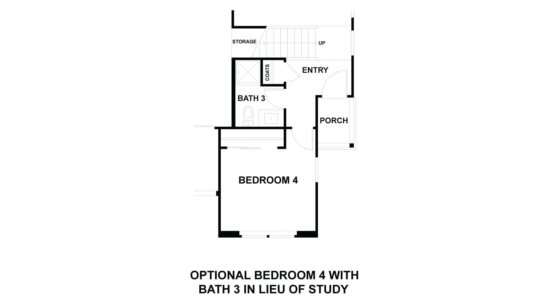 Optional Bedroom 4 and Bath 3 in lieu of Study. 3br New Home in Costa Mesa, CA