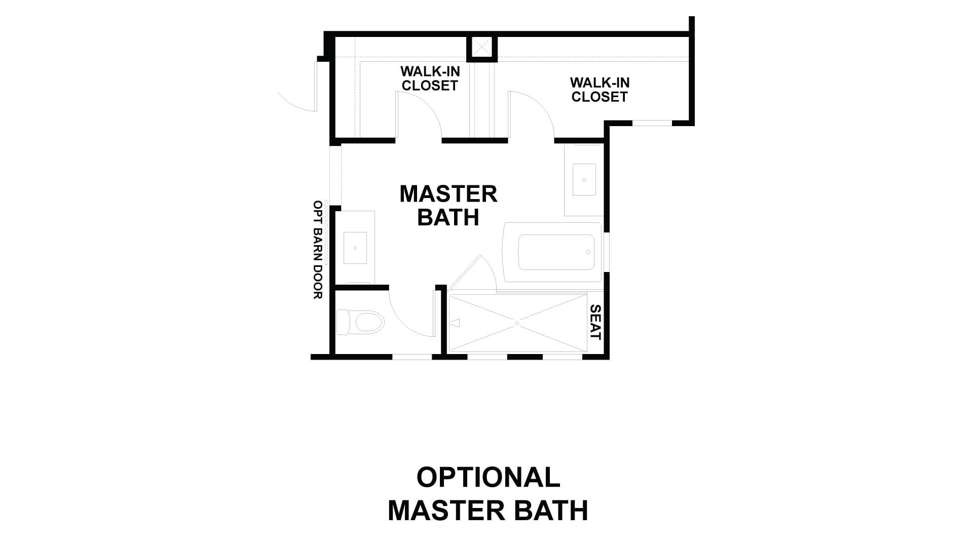 Optional Tub at Master Bath. 2,169sf New Home in Costa Mesa, CA