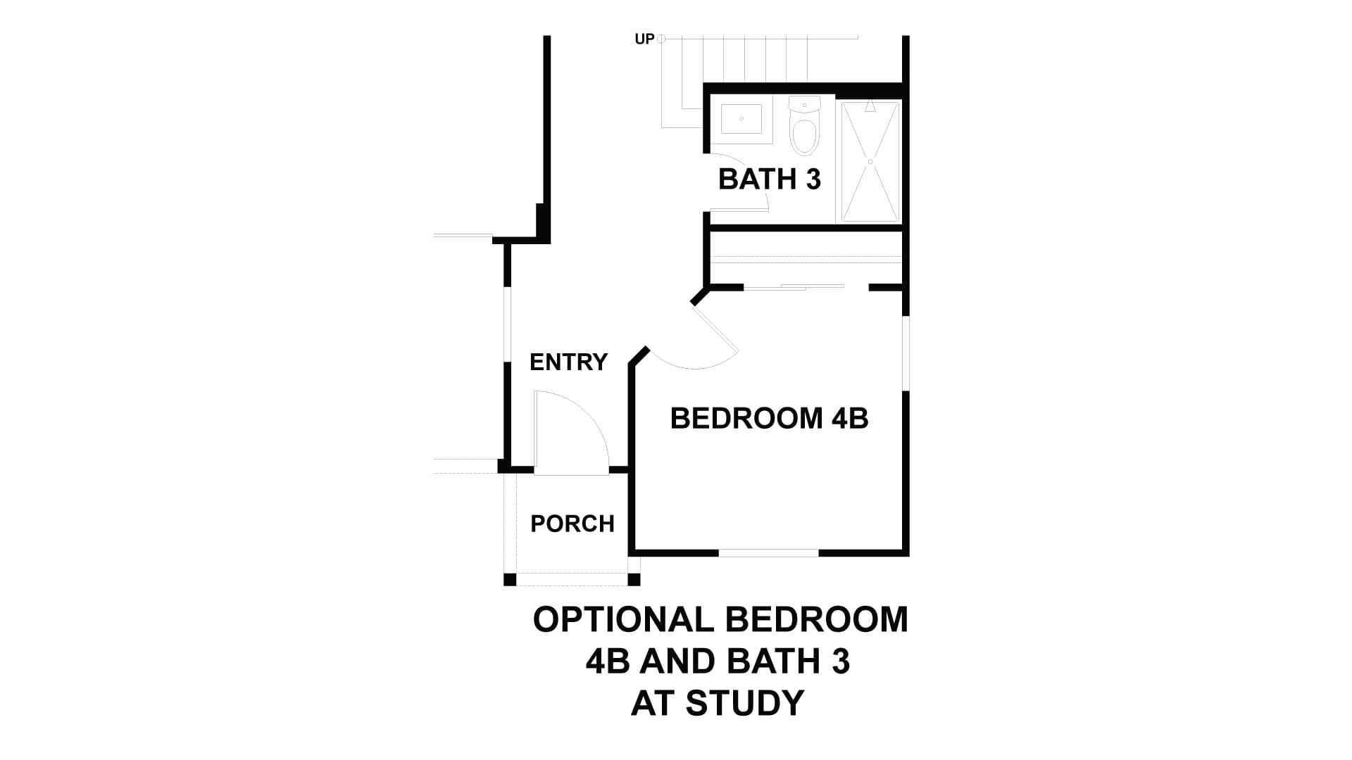 Optional Bedroom 4B and Bath 3 in Lieu of Study. 2,401sf New Home in Costa Mesa, CA