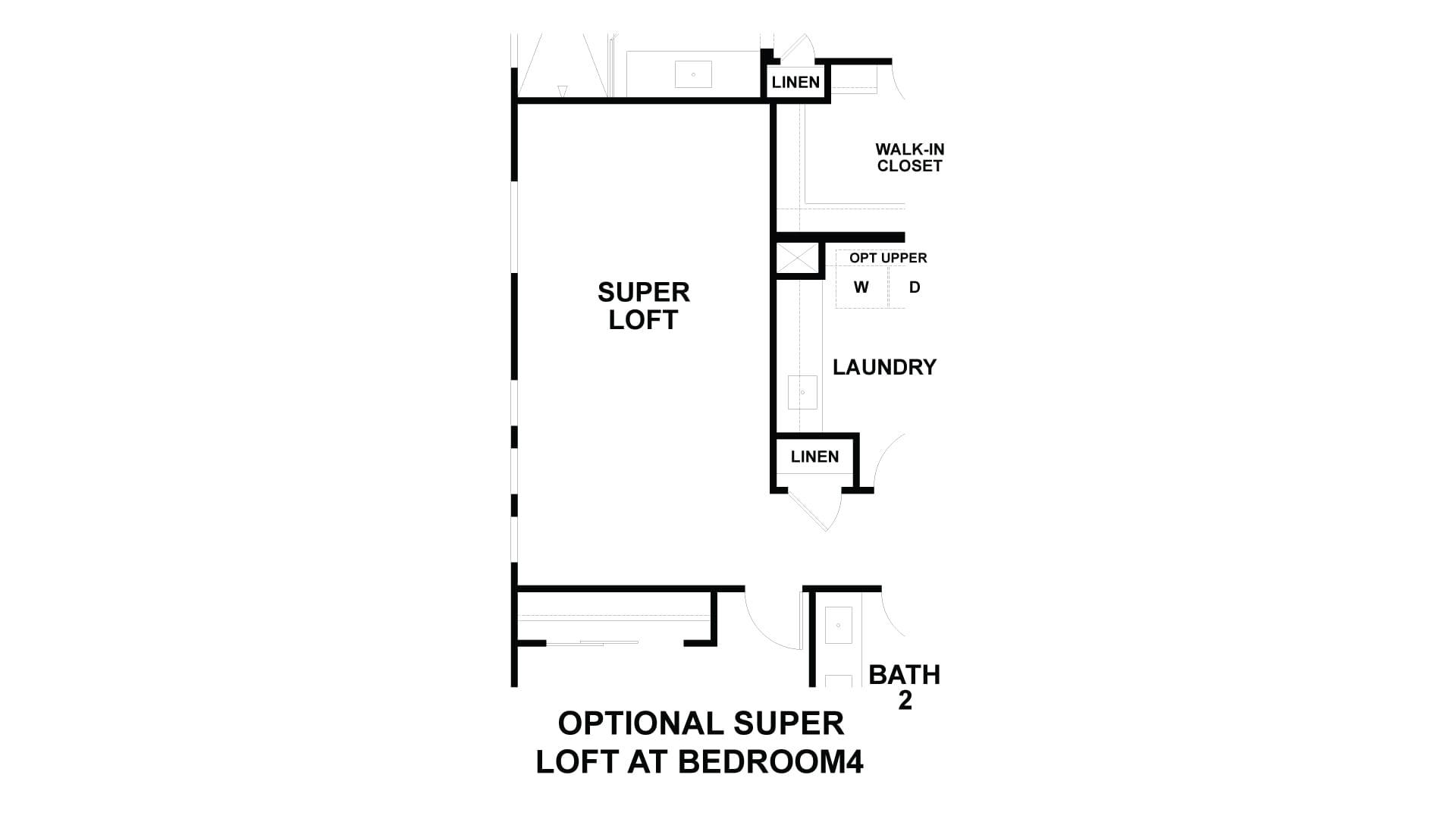Optional Super Loft in lieu of Bed 4 and loft. Costa Mesa, CA New Home