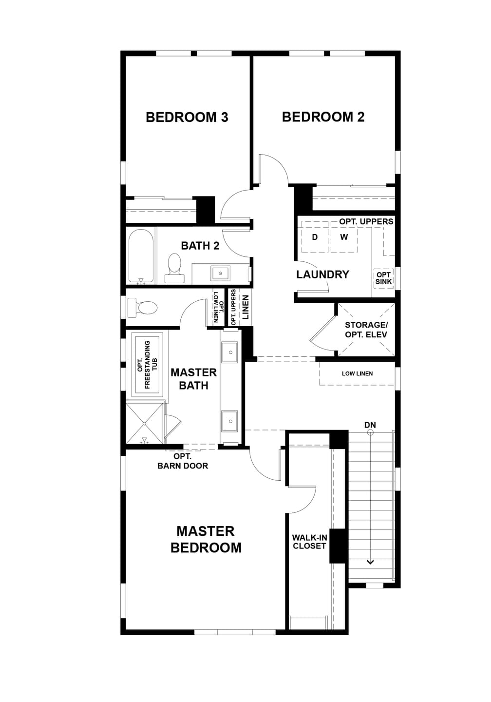 Third Level. 3br New Home in San Jose, CA