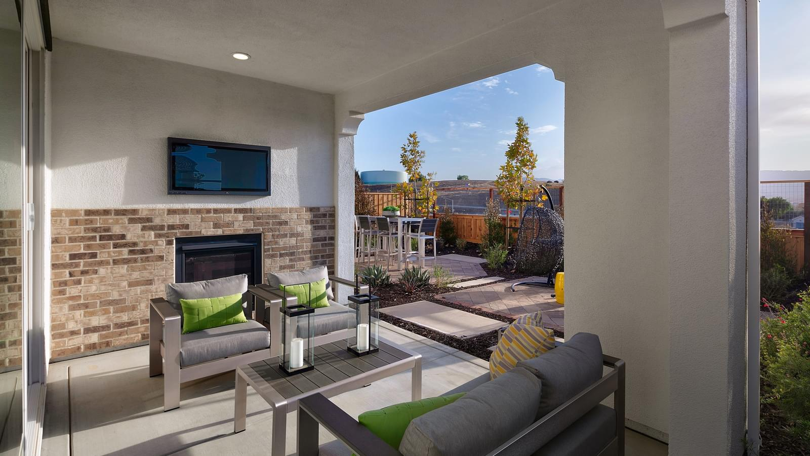 Optional Covered Patio with Fireplace