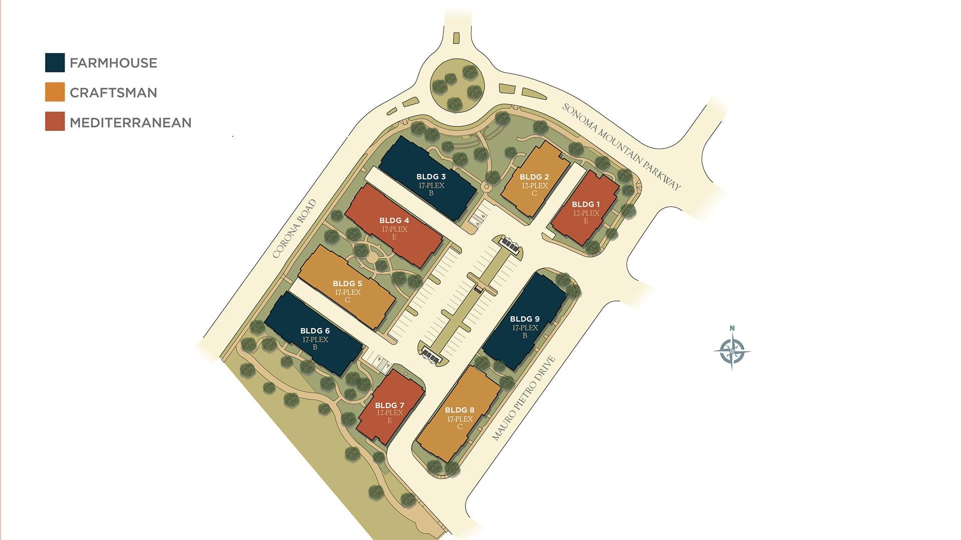 Mill Creek Site Map. New Homes in Petaluma, CA