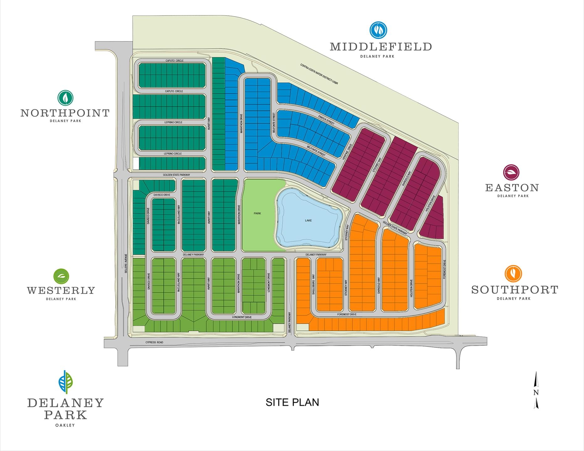 The Master Planned Community Delaney Park New Homes in Oakley, CA