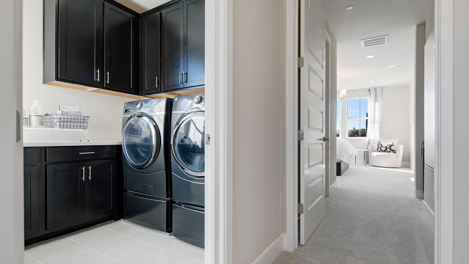 Residence 1 Laundry & Master Bedroom