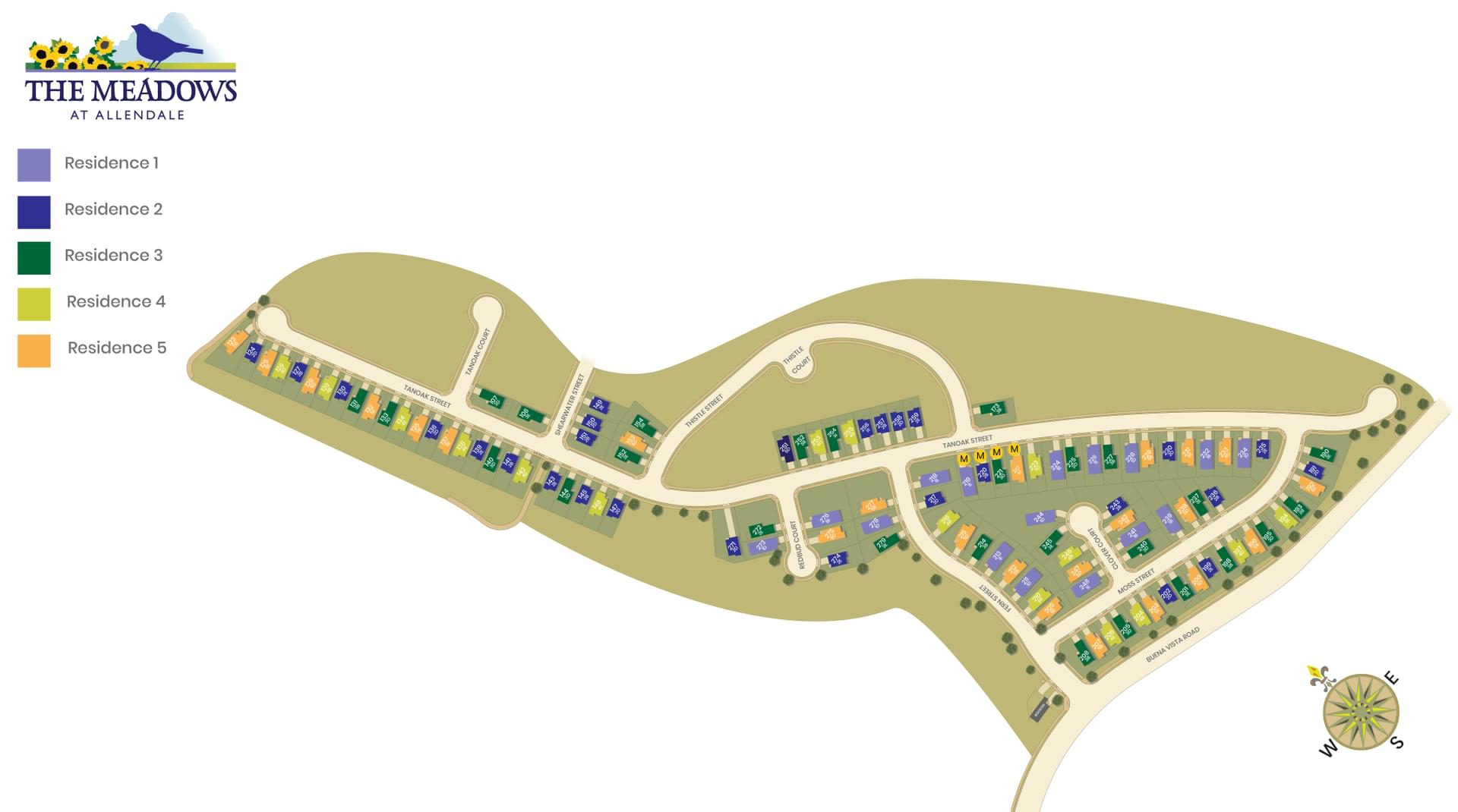 The Meadows Site Map. Hollister, CA New Homes
