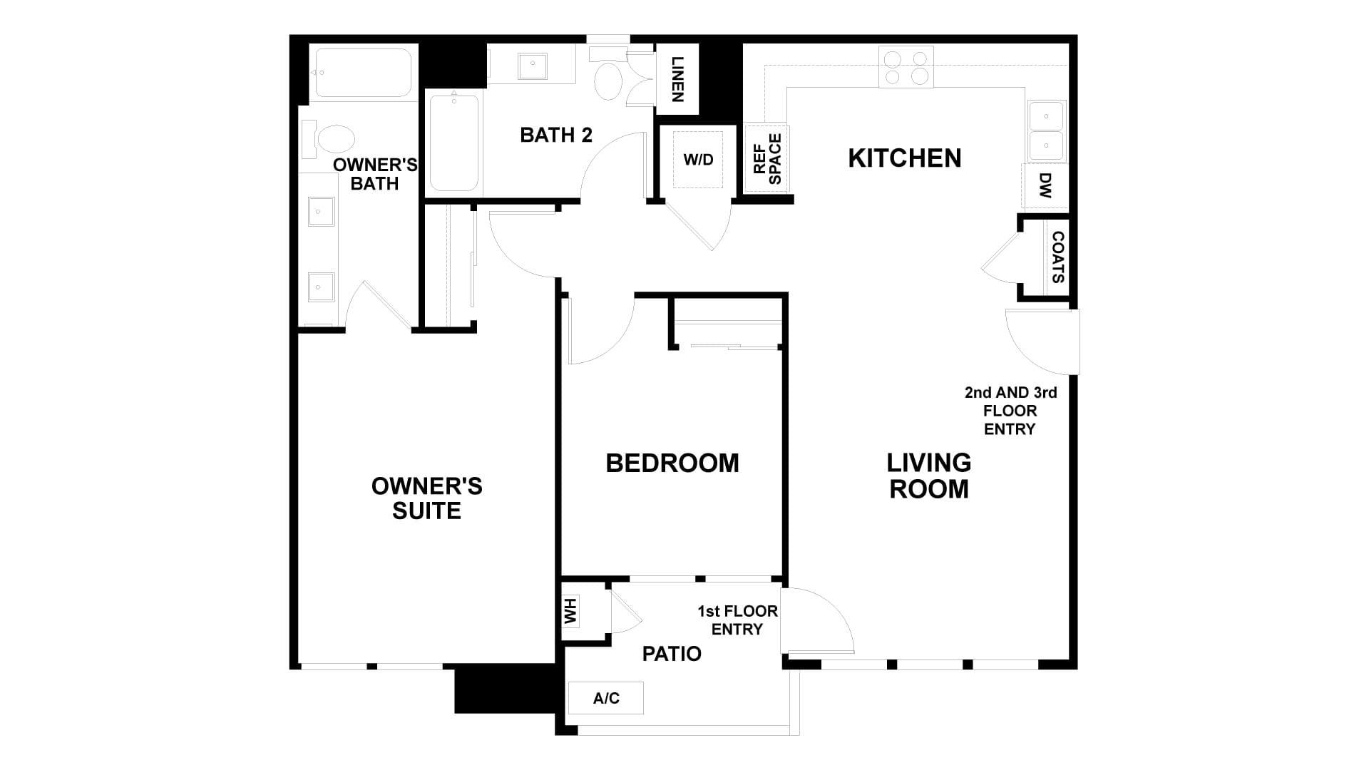 Floor Plan. 2br New Home in Antioch, CA
