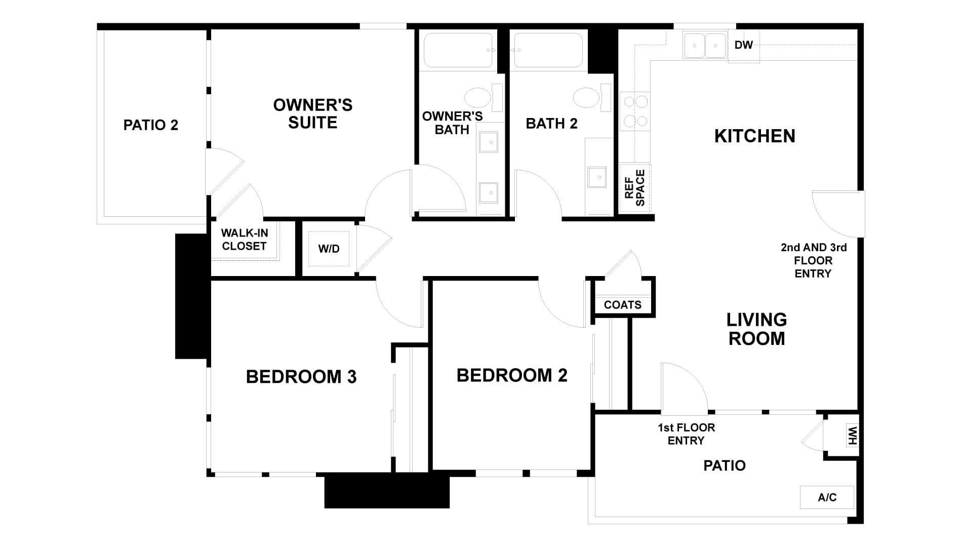 Floor Plan. 3br New Home in Antioch, CA