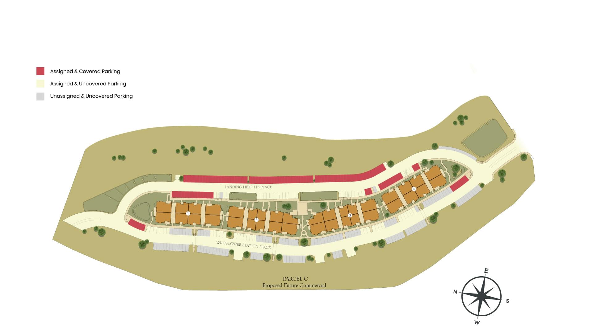 The Landing at Wildflower Station Site Map. Antioch, CA New Homes