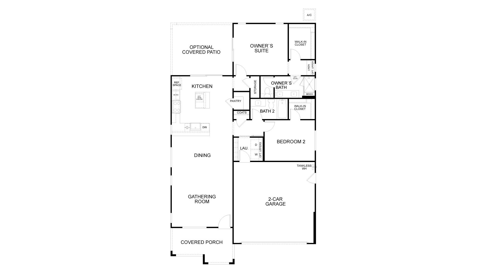 Floor Plan. 1,302sf New Home in Rio Vista, CA