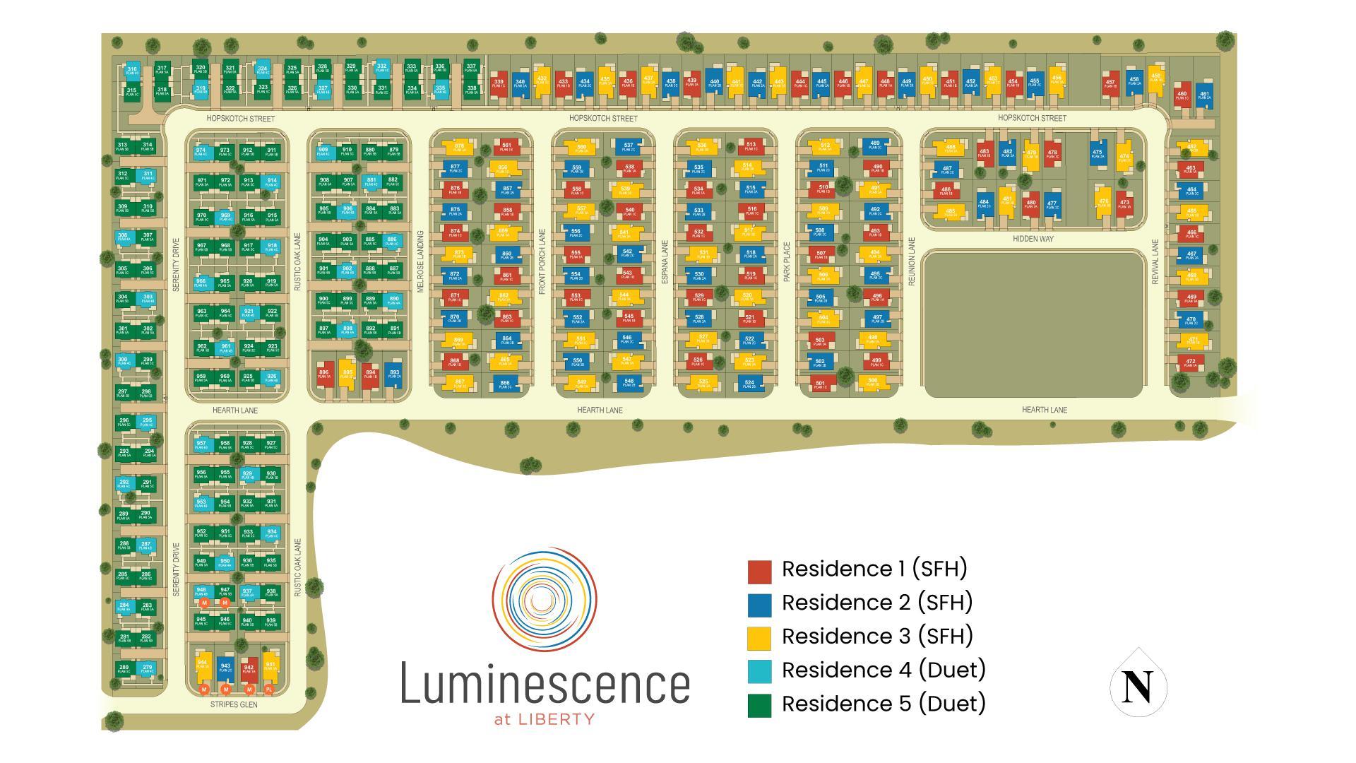 Luminescence at Liberty Site Map. Rio Vista, CA New Homes