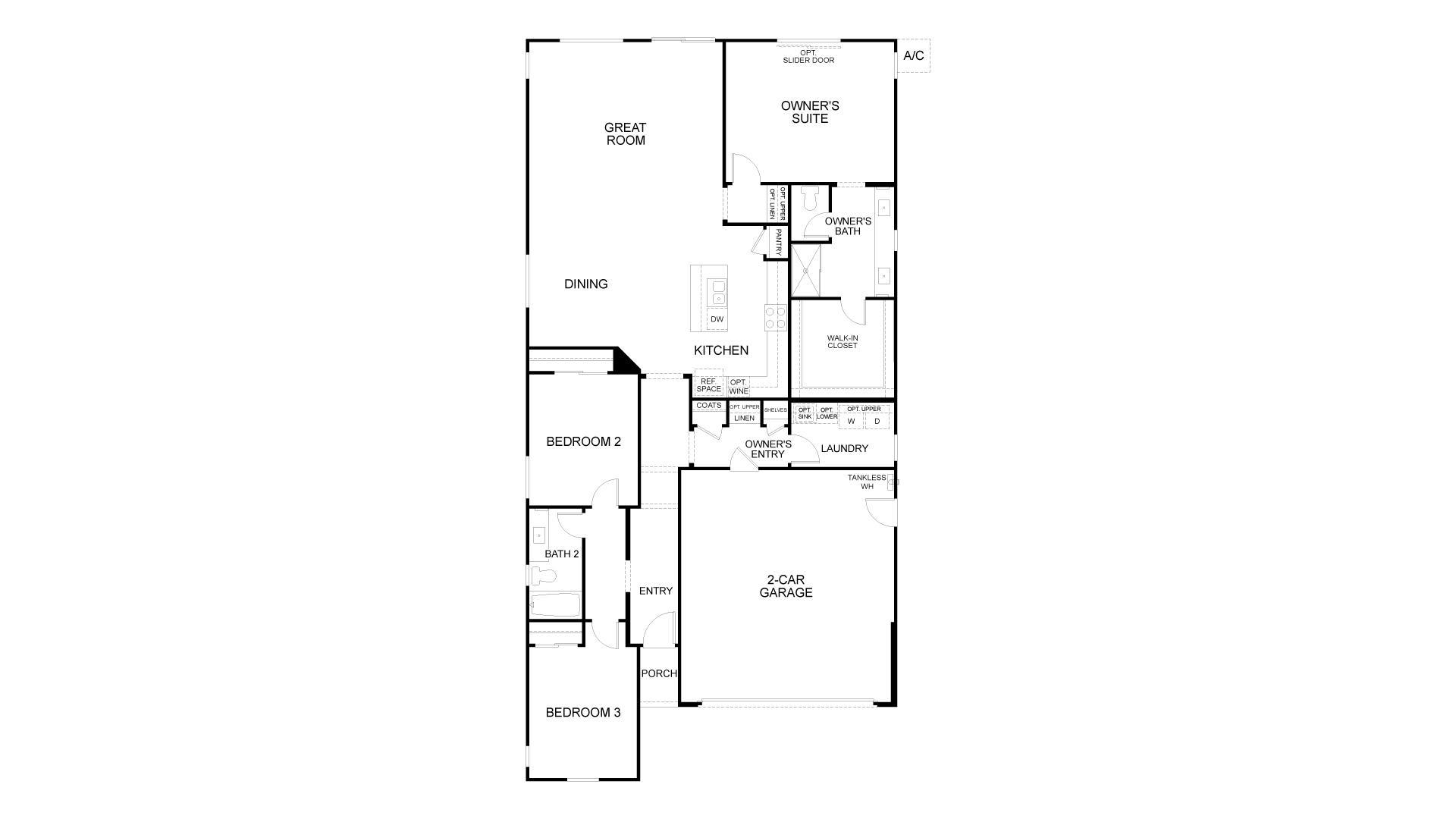 Floor Plan. New Home in Antioch, CA