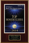 September 2014 -  Silicon Valley Business Journal Top Homebuilders Award