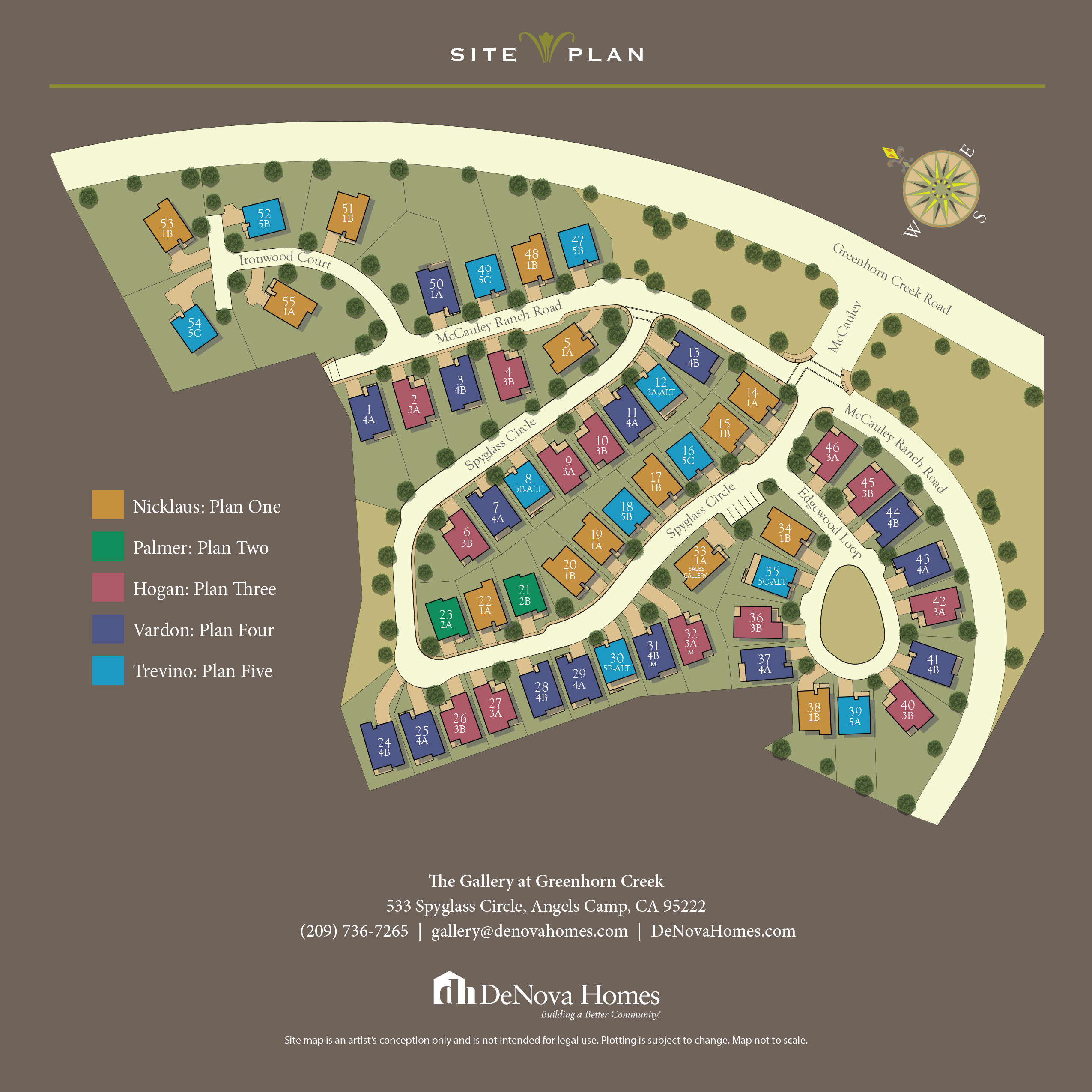 Angels Camp, CA New Homes. The Gallery at Greenhorn Creek .